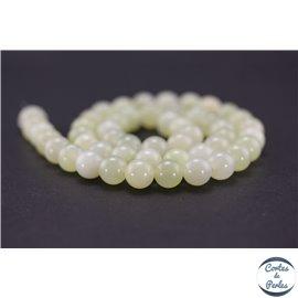 Perles semi précieuses en bowénite - Rondes/8 mm - Vert pâle