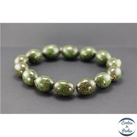 5 Céramique Perles Environ 12 mm Safran