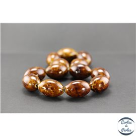 Perles en céramique - Olives/30 mm - Marron teck