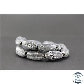 Perles en céramique - Ogives/25 mm - Granit