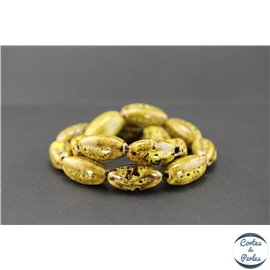 Perles en céramique - Ogives/25 mm - Curry