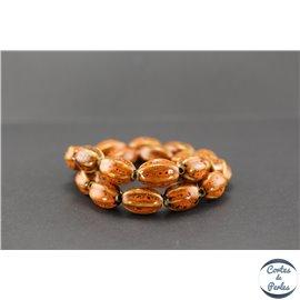 Perles en céramique - Olives/18 mm - Safran