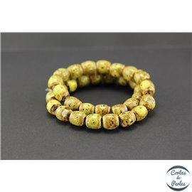 Perles en céramique - Tonneaux/12 mm - Curry