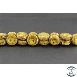 Perles en céramique - Disques/19 mm - Curry