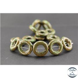 Perles en céramique - Donuts/26 mm - Vert cyprès