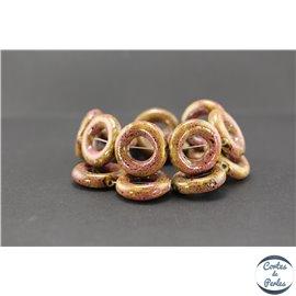 Perles en céramique - Donuts/26 mm - Vieux rose