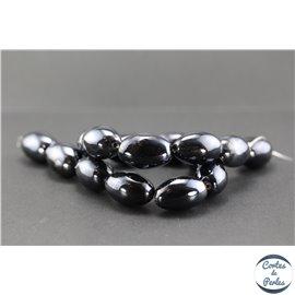 Perles en céramique - Olives/26 mm - Noir bleuté