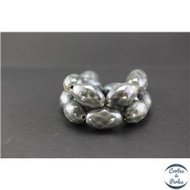 Perles en céramique - Olives/17 mm - Gris