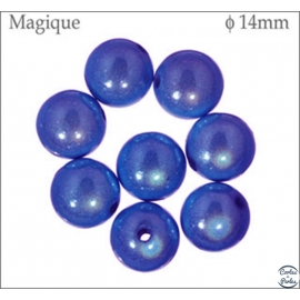Perles Magiques - Ronde/14 mm - Bleu