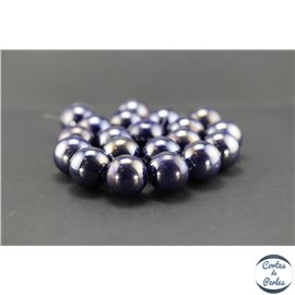 Perles en céramique - Rondes/20 mm - Dark violet