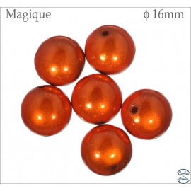 Perles Magiques - Ronde/16 mm - Rouge