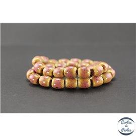 Perles en céramique - Tonneaux/12 mm - Vieux rose