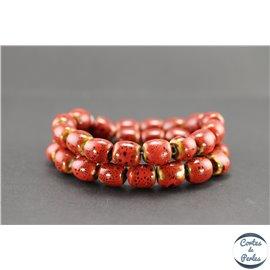 Perles en céramique - Tonneaux/12 mm - Corail