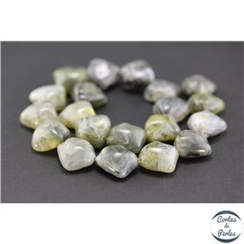 Perles en résine naturelle - Triangles/19 mm - Gris cendré