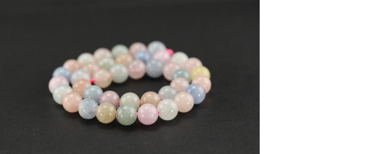 Grossiste perles en morganite