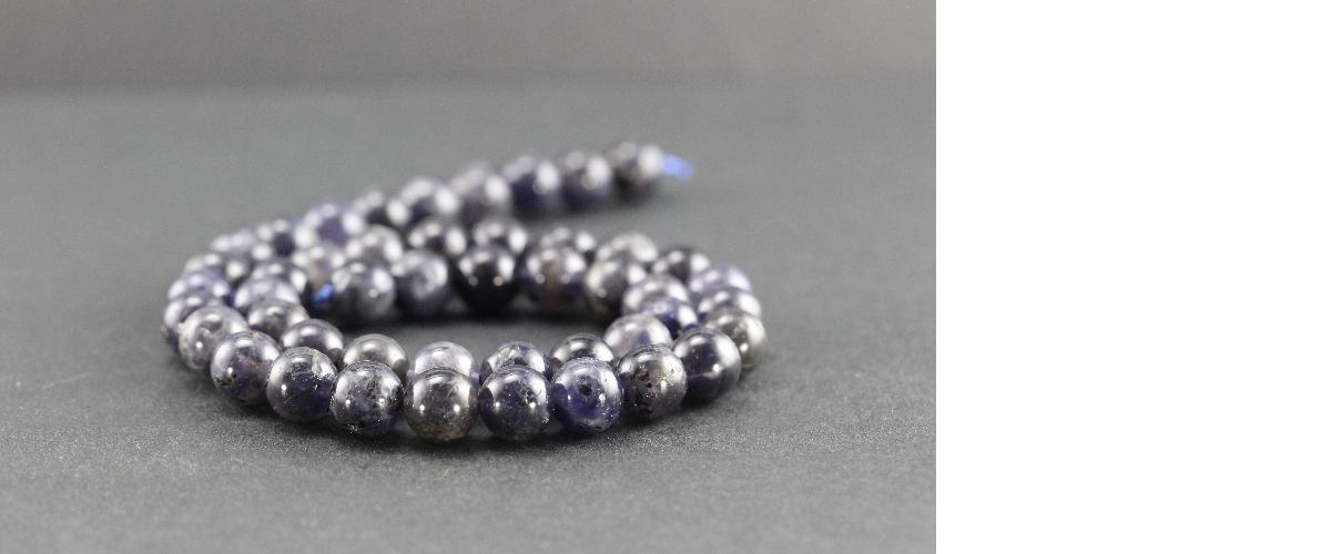Perles en iolite