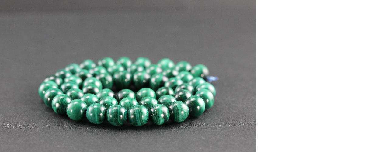 Grossiste perles en malachite
