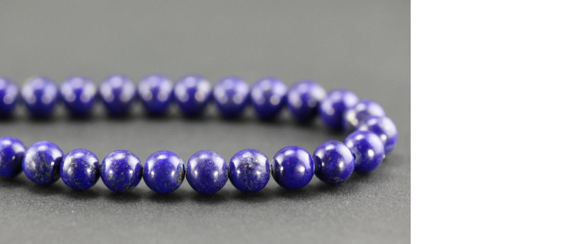 Grossiste perles en lapis lazuli d'Afghanistan