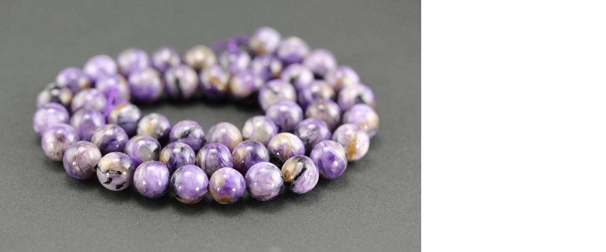 Perles en charoïte