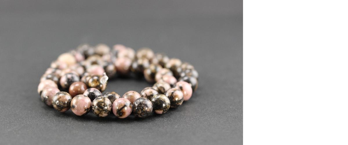 Grossiste perles en rhodonite
