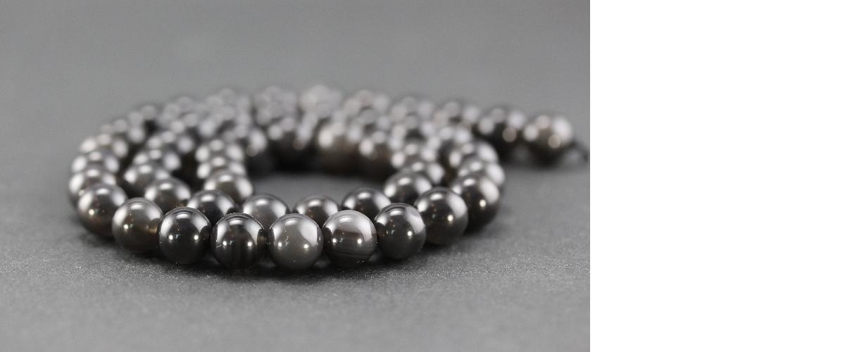 Grossiste perles en obsidienne