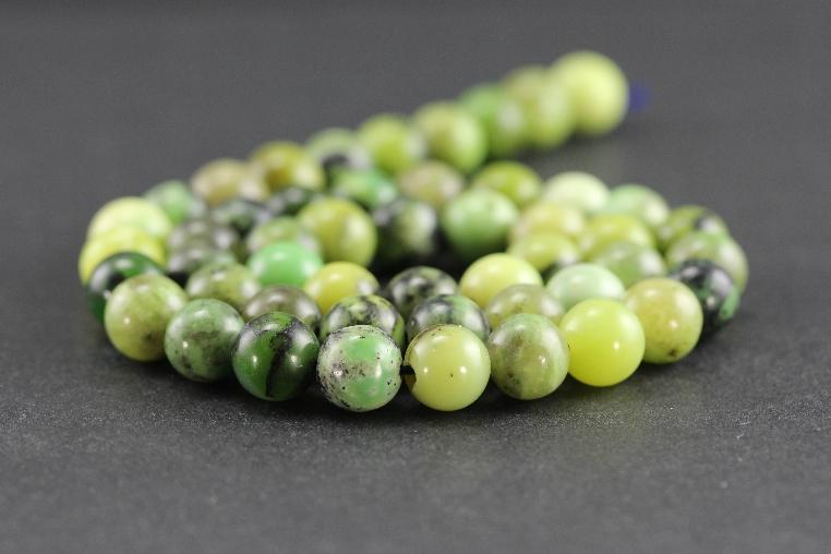 Grossiste perles en jaspe vert