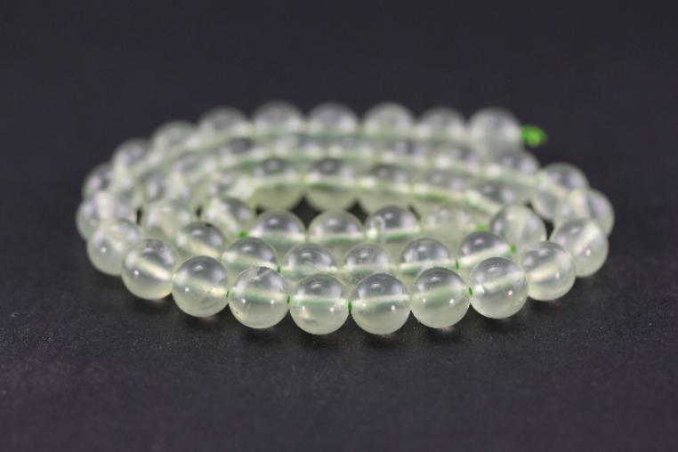 Perles en préhnite